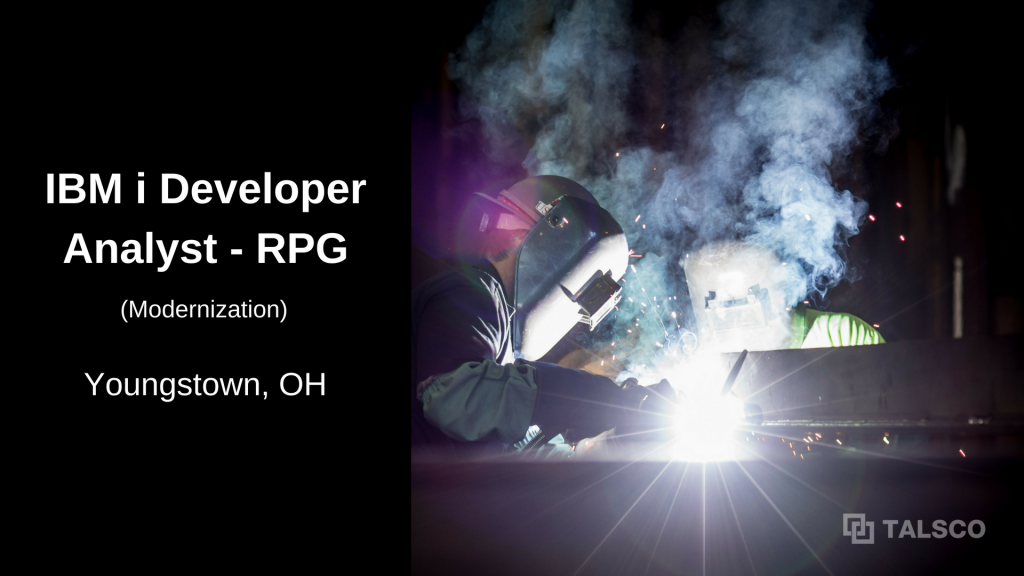 RPG Modernization Developer opening in Youngstown, OH area