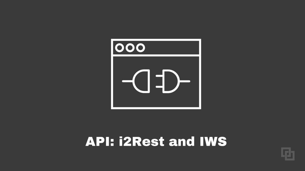 API Development i2Rest and IWS